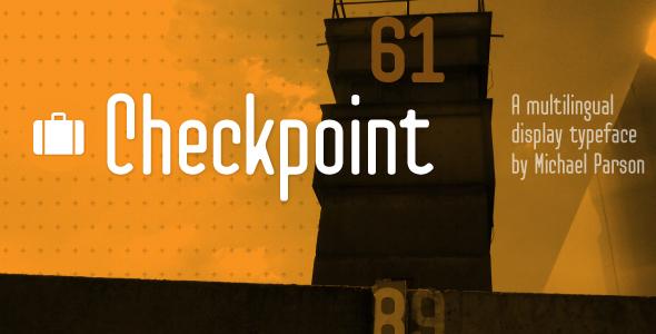 Checkpoint - Condensed Sans-Serif