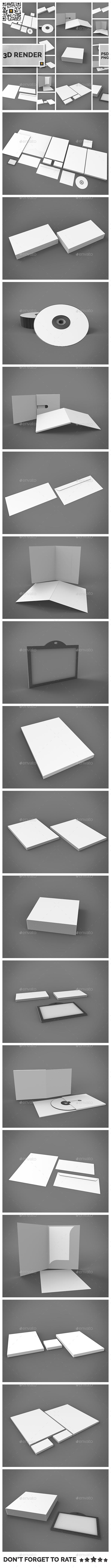 Branding Stationary 3D Render - Miscellaneous 3D Renders