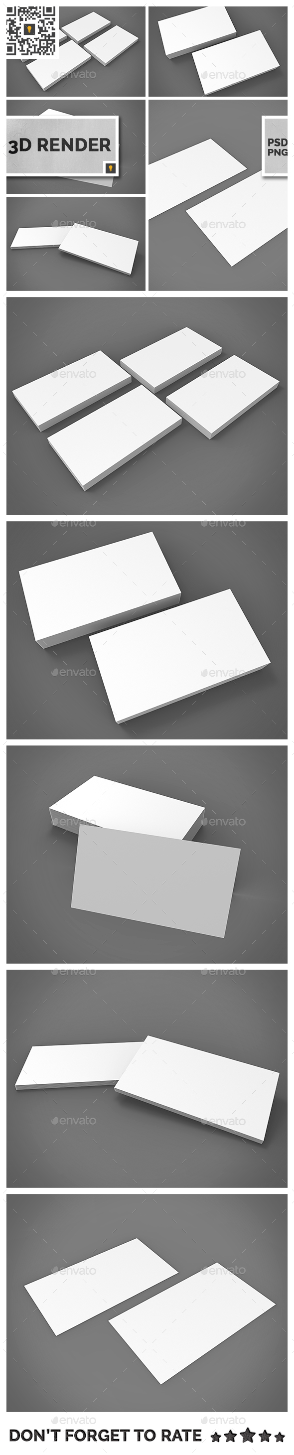 Business Card 3D Render - Miscellaneous 3D Renders