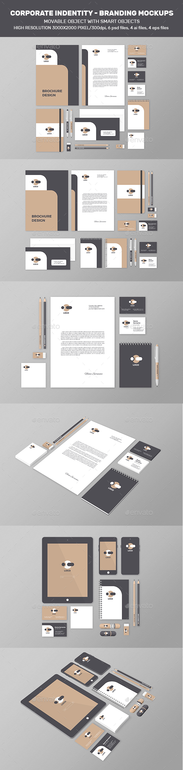 Corporate Identity – Branding Mock-Up - Stationery Print