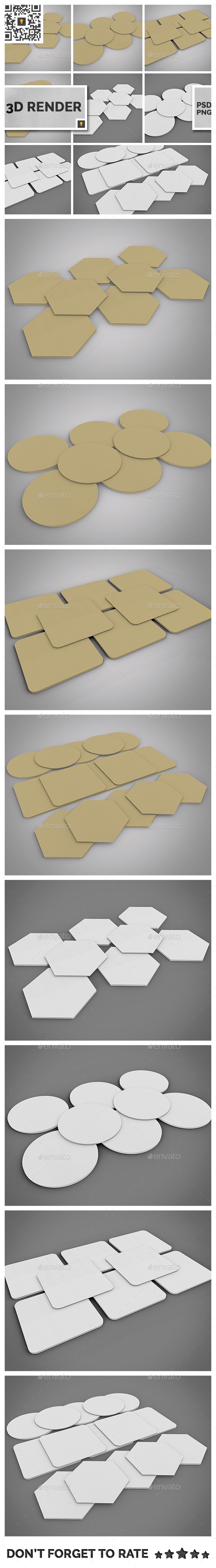 Paper Coaster 3D Render - Miscellaneous 3D Renders