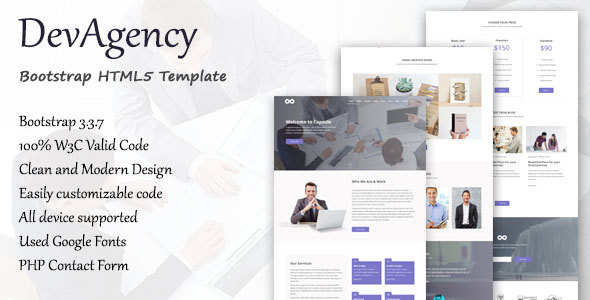 Dev Agency Bootstrap HTML5 Template
