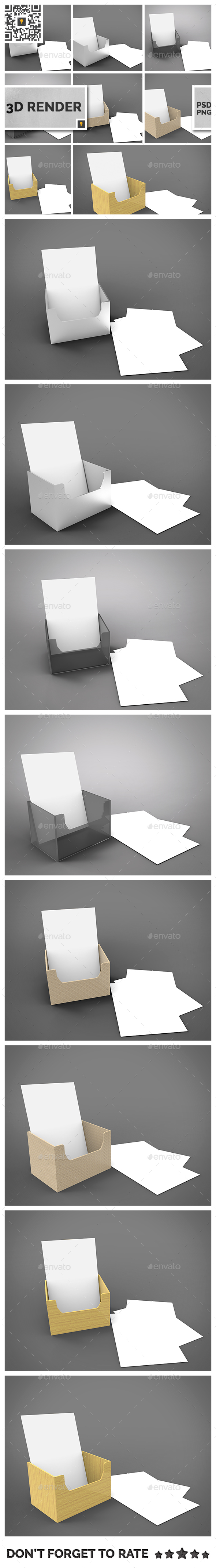 Flyer Holder 3D Render - Miscellaneous 3D Renders