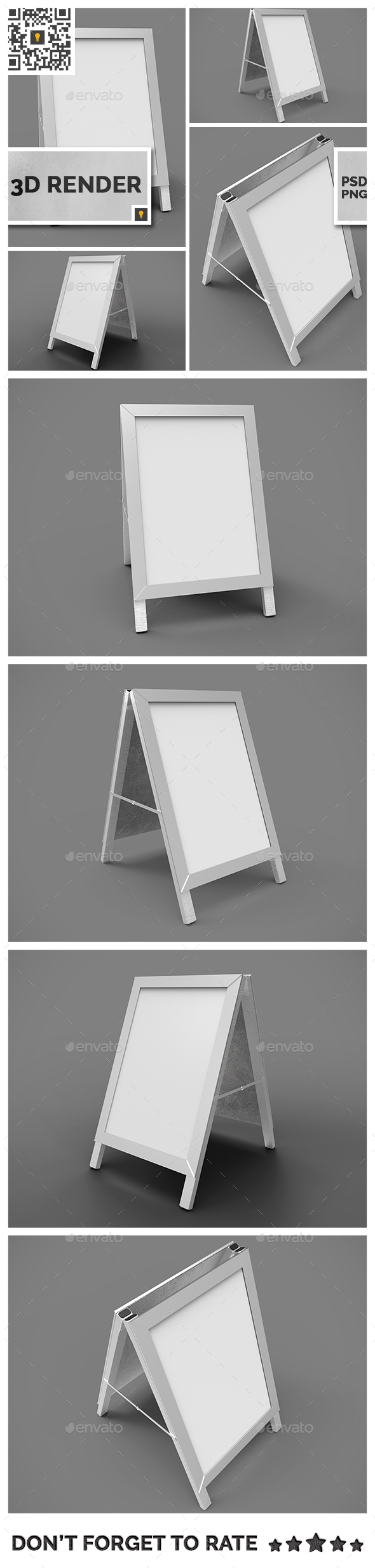 Poster Stand Display 3D Render - Miscellaneous 3D Renders