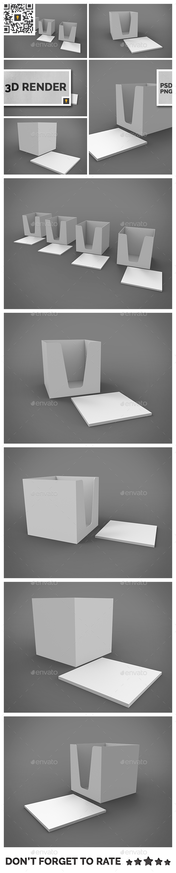 Notepad Holder & Notes 3D Render - Miscellaneous 3D Renders