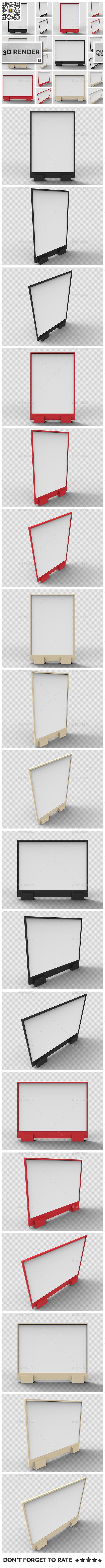 Flyer Display 3D Render - Objects 3D Renders