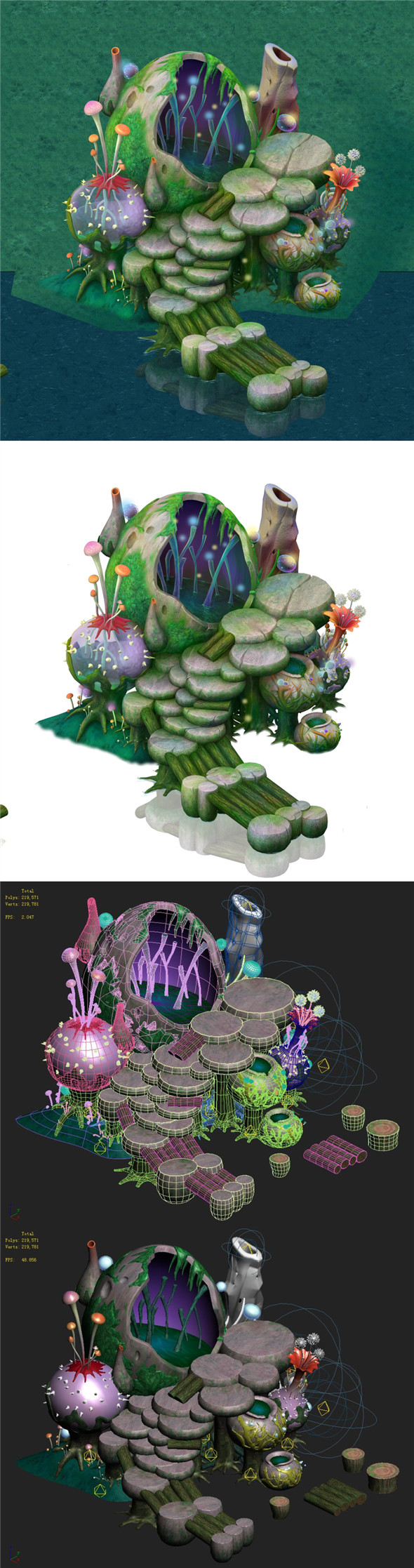Cartoon version - spore purgatory - 3DOcean Item for Sale