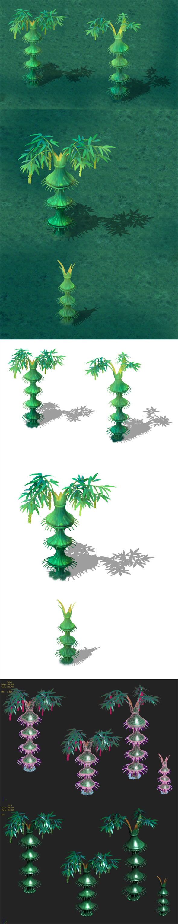 Cartoon Edition - Flower Bamboo Forest - 3DOcean Item for Sale