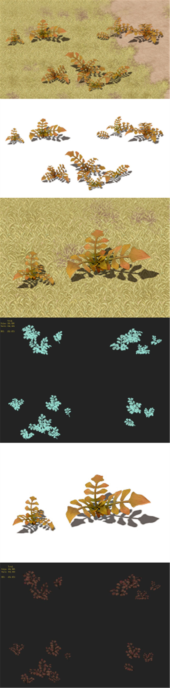 Cartoon version - wasteland vegetation - 3DOcean Item for Sale