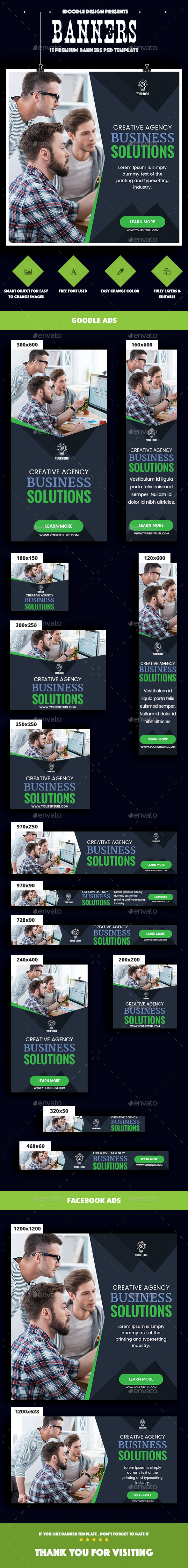 Multipurpose, Corporate, Business Banners Ads - Banners & Ads Web Elements