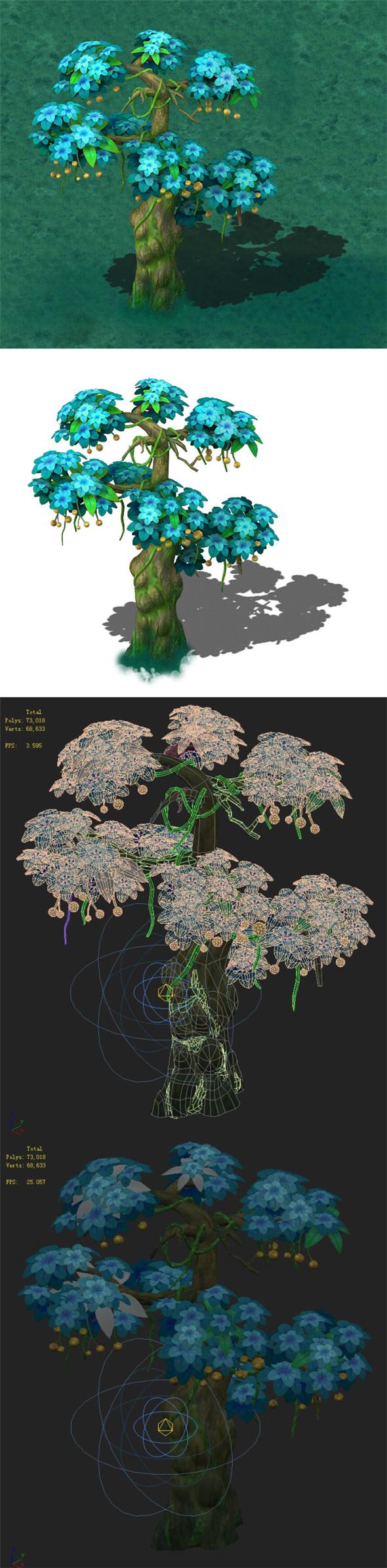 Cartoon version - wonderful fruit tree 02 - 3DOcean Item for Sale