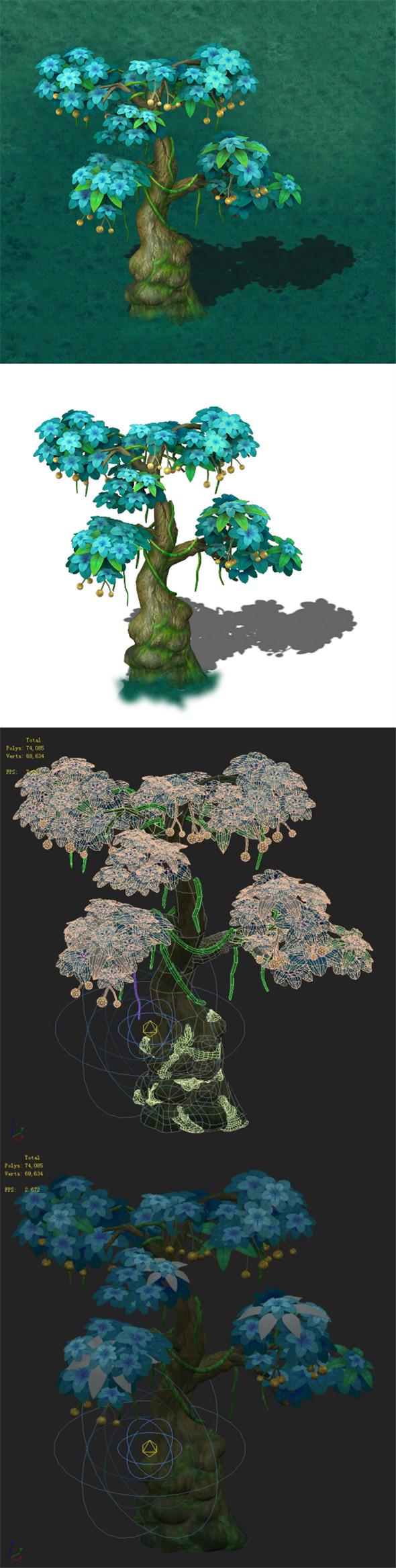 Cartoon version - wonderful fruit tree 03 - 3DOcean Item for Sale