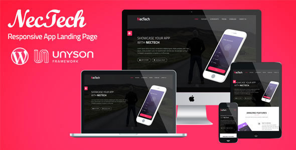 NecTech – App Landing WordPress Theme