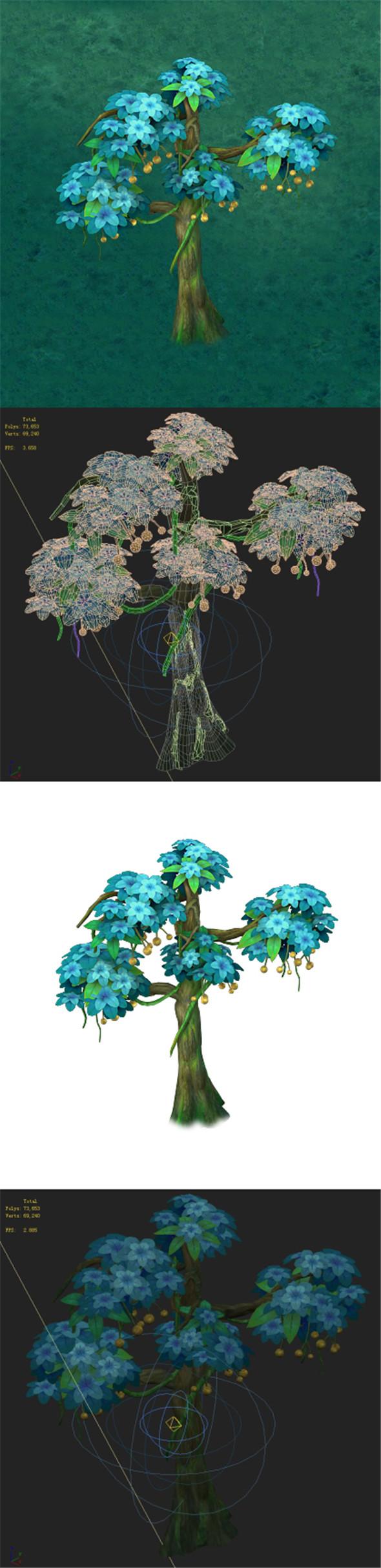 Cartoon version - wonderful fruit tree 05 - 3DOcean Item for Sale