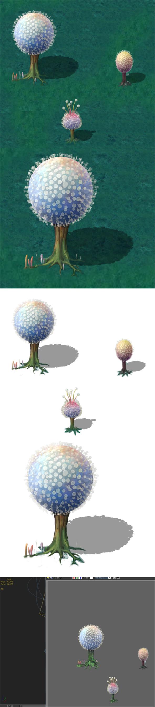 Cartoon version - pompon Spores - 3DOcean Item for Sale