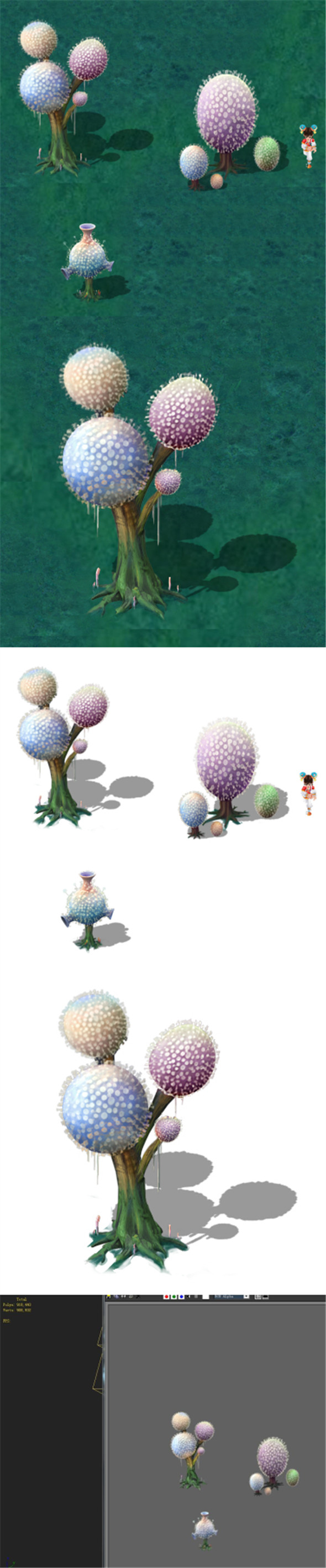 Cartoon version - pompon Spores 02 - 3DOcean Item for Sale