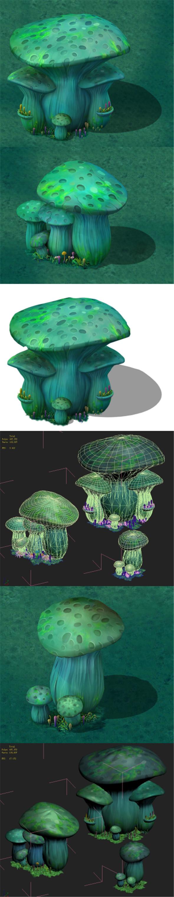 Cartoon Edition - Ancient Nu Wa Mushroom Fossil 04 - 3DOcean Item for Sale