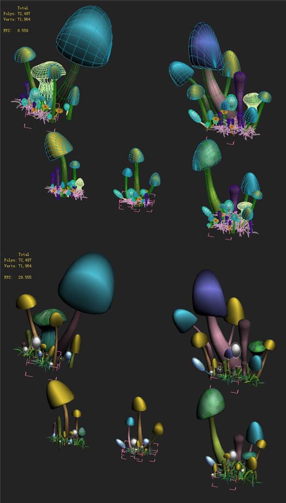 Cartoon Edition - Ancient Nu Wa Mushroom Fossil 05 - 3DOcean Item for Sale