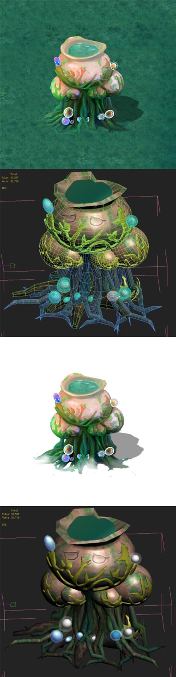 Cartoon version - petrol spores - 3DOcean Item for Sale