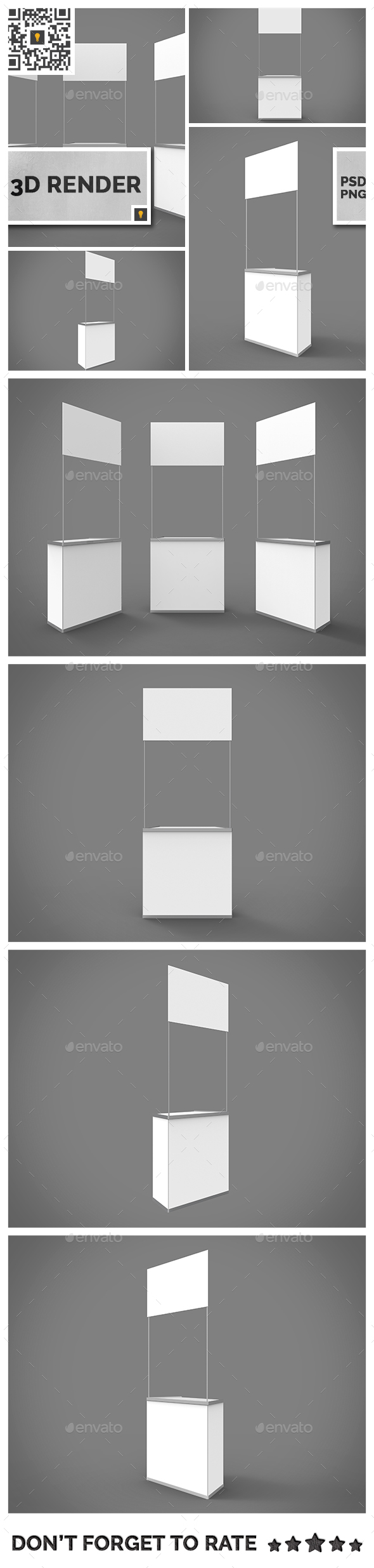 Promo Counter 3D Render - Objects 3D Renders