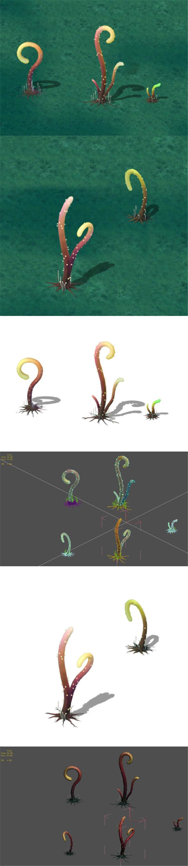 Cartoon version - Striped spore - 3DOcean Item for Sale