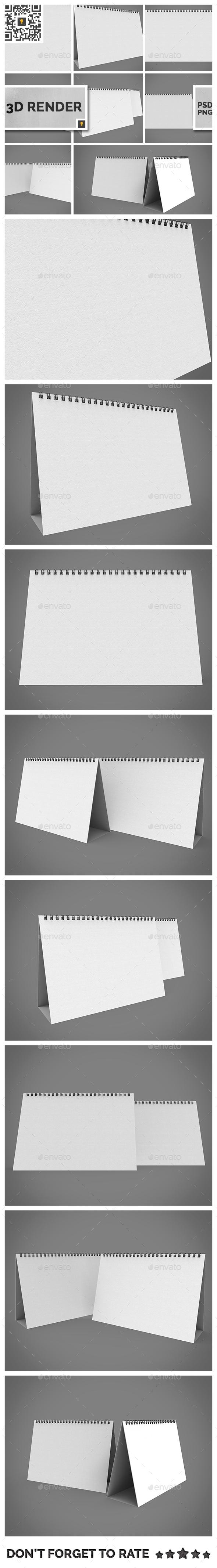 Desktop Calendar 3D Render - Objects 3D Renders