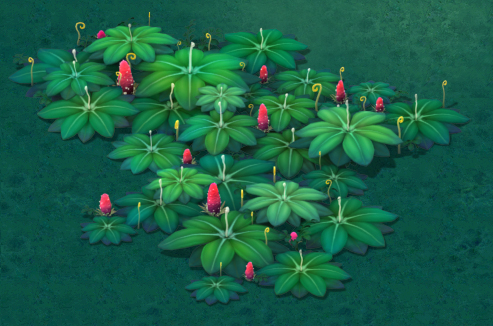 Cartoon version - lizard strawberry