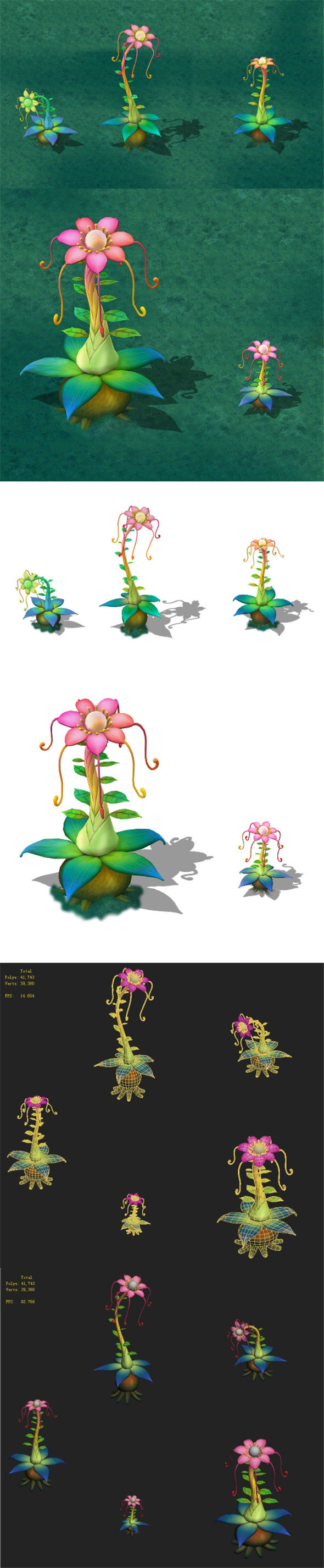 Cartoon version - Prophet magic flower - 3DOcean Item for Sale
