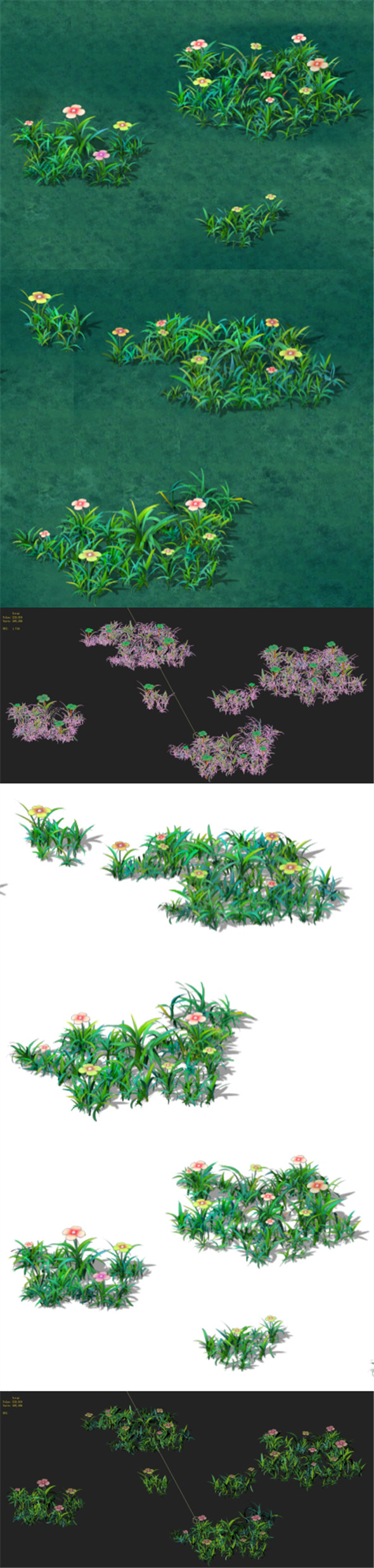 Cartoon version - small wildflower surface - 3DOcean Item for Sale