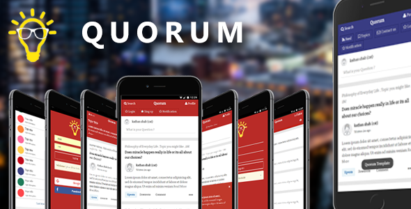 Quorum | Mobile and Tablet Template (Like Quora)