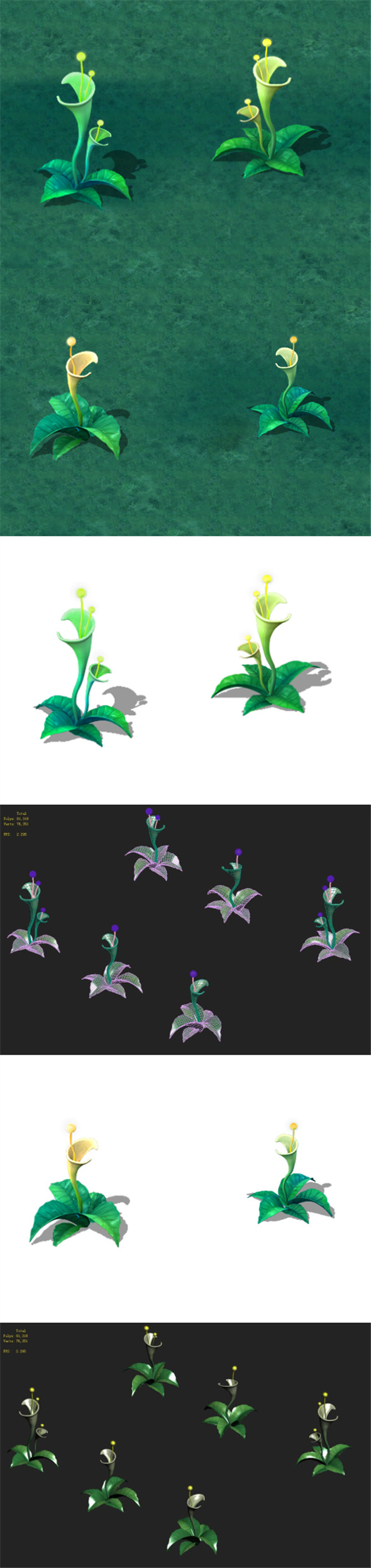 Cartoon version - plant mysterious light - 3DOcean Item for Sale