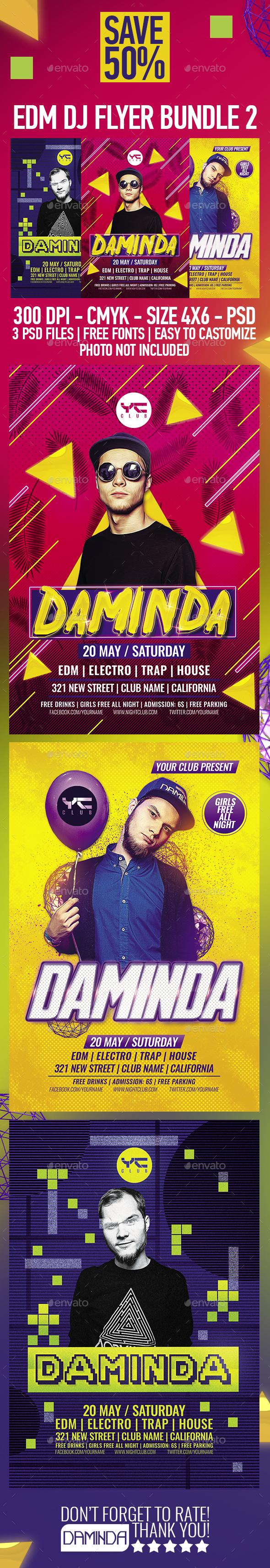 EDM DJ Flyer Bundle 2 - Clubs & Parties Events
