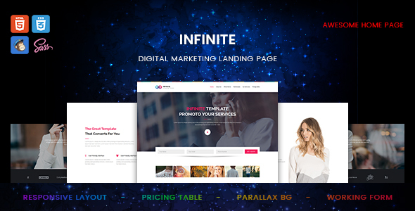 Image of Infinite - Digital Marketing Landing Page