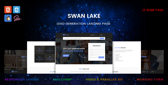 Swan Lake - Lead Generation Marketing Landing Page - Specialty Pages Site Templates