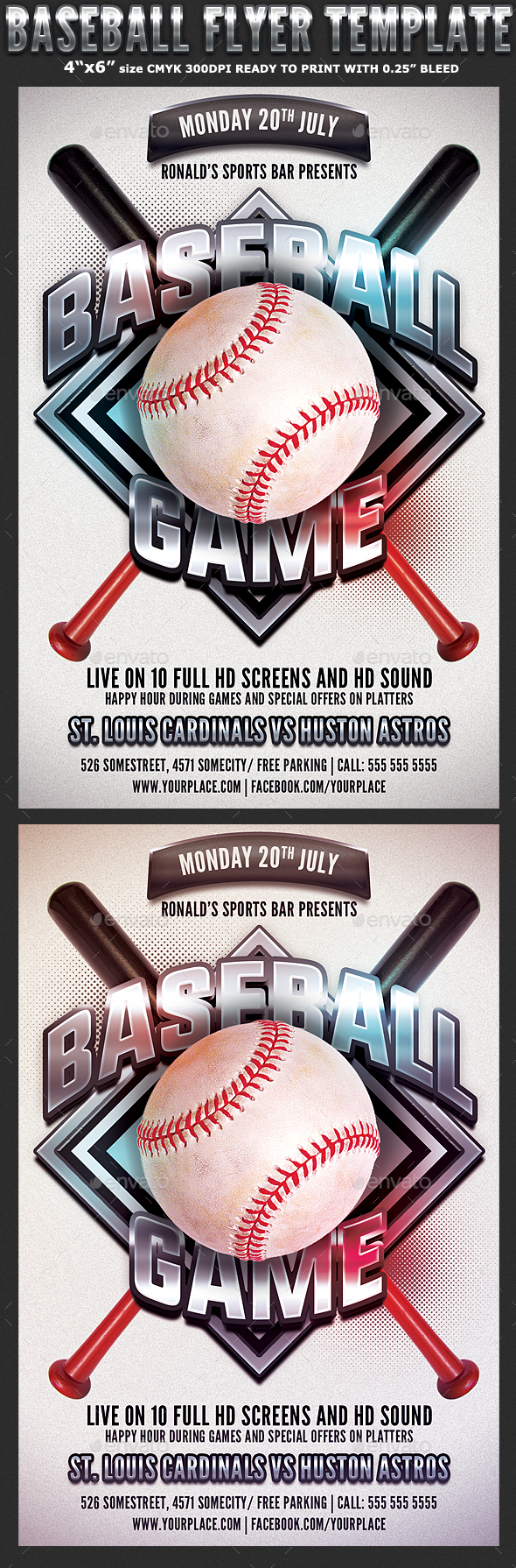 Baseball Game Flyer Template - Sports Events