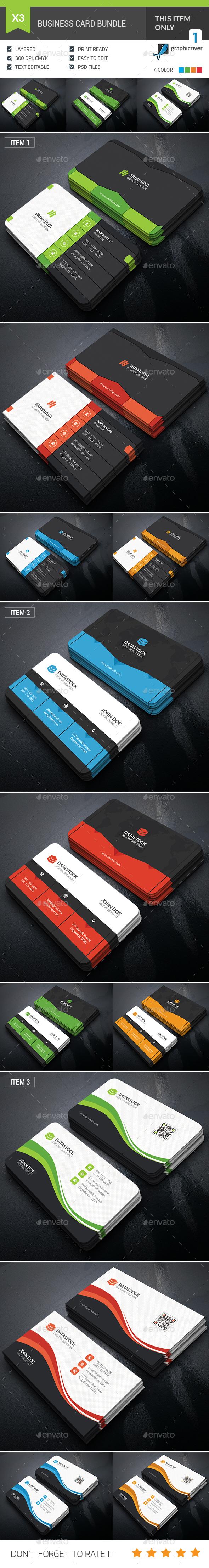 Dark Business Card Bundle - Corporate Business Cards