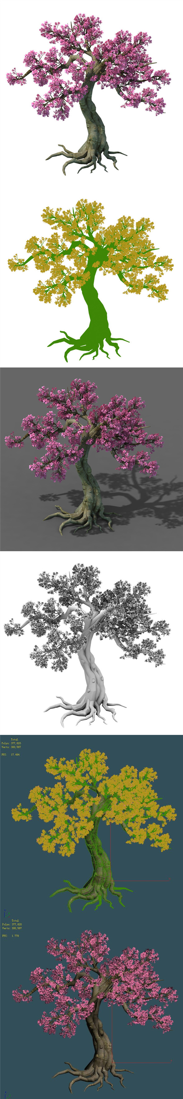 Forest - Peach Blossom Tree 04 - 3DOcean Item for Sale