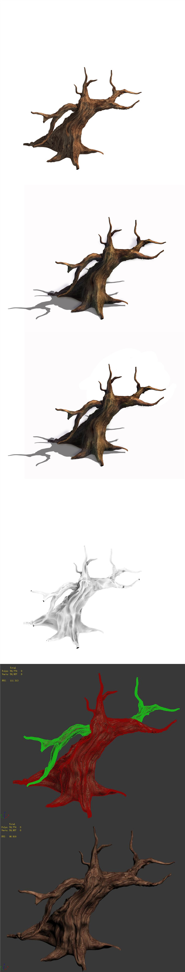 Desert - dead tree 12 - 3DOcean Item for Sale