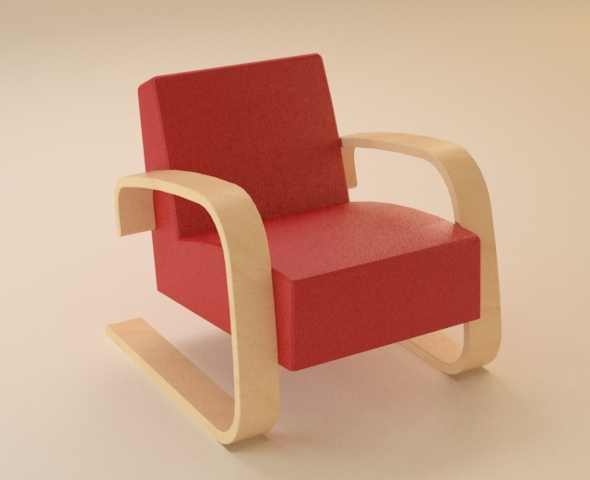 Armchair by Artek - 3DOcean Item for Sale