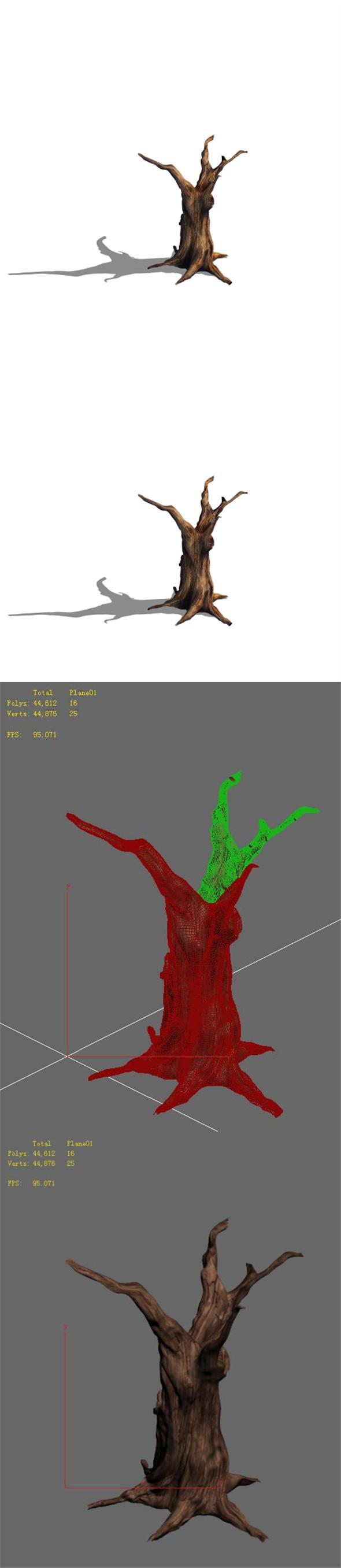Desert - dead tree 13 - 3DOcean Item for Sale