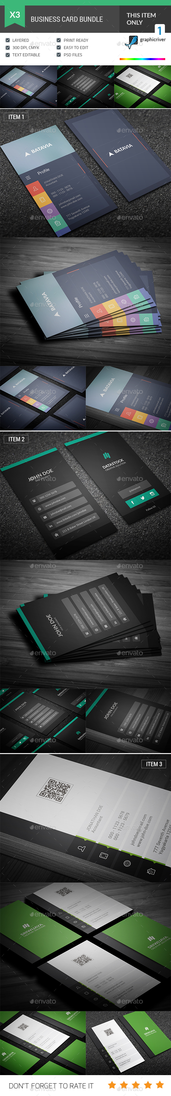 Flat Business Card Bundle - Corporate Business Cards