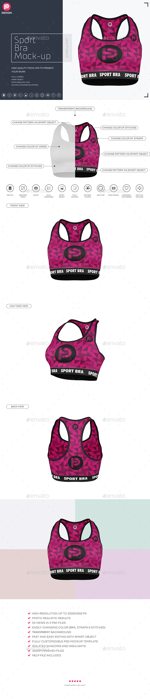 Sport Bra Mock-up - Miscellaneous Apparel