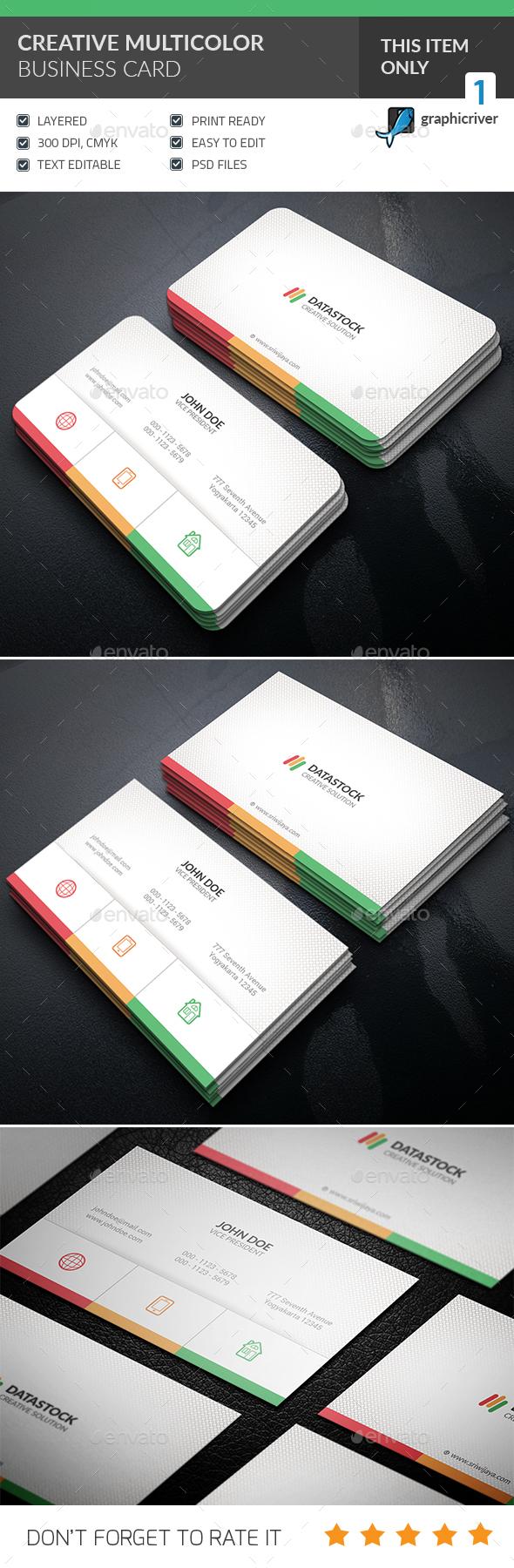 Multicolor Business Card - Corporate Business Cards