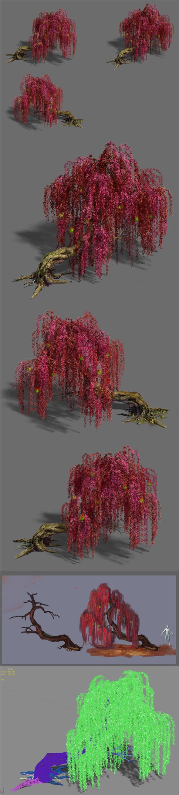 Trees - Biluo Trees 02 - 3DOcean Item for Sale