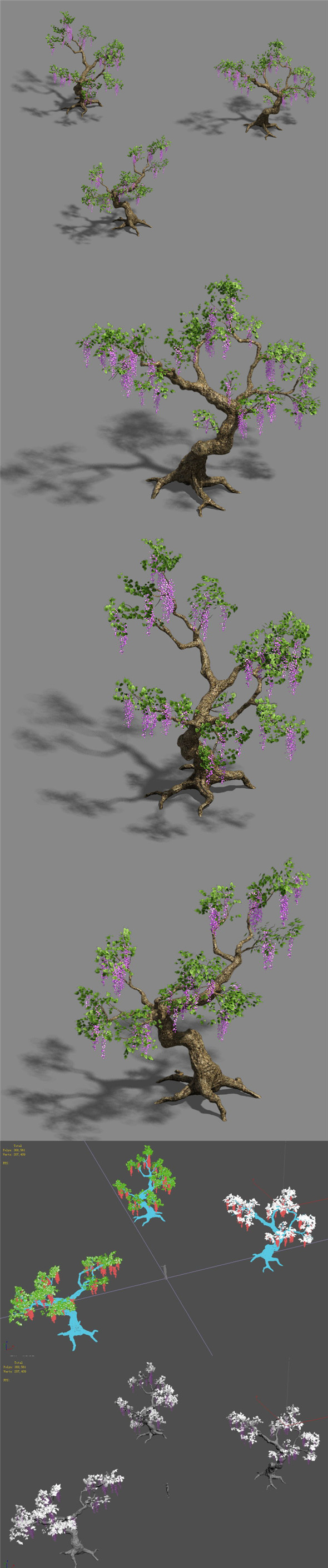 Trees - Purple Trees - 3DOcean Item for Sale