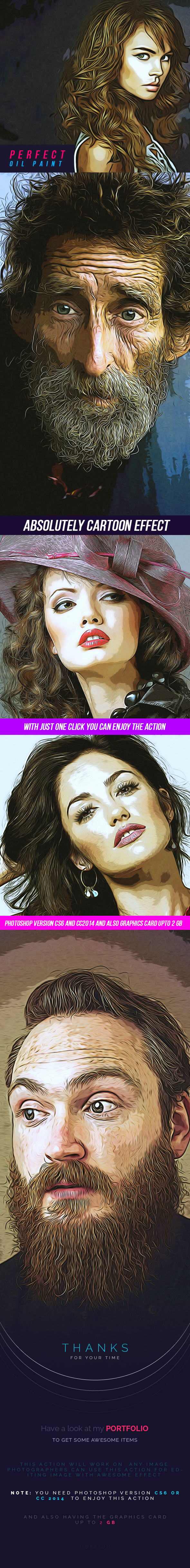 Perfect Oil Paint - Photo Effects Actions