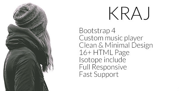 Image of Kraj – Music Band HTML Template