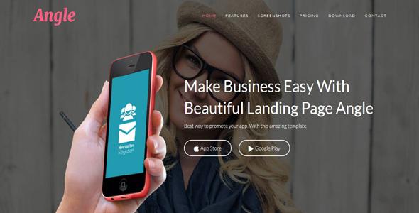 Angle – Responsive App Landing Page