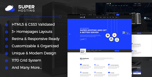 Super Host – Premium Web Hosting HTML Template