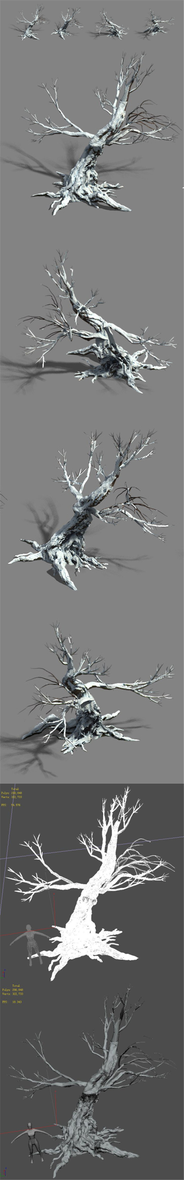 Snow - dead tree 1 - 3DOcean Item for Sale